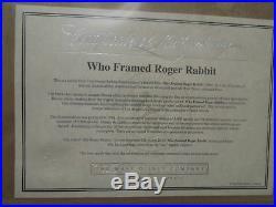 Roger & Jessica Who Framed Roger Rabbit Limited Edition Animation Cel Signed