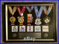 RunDisney WDW Walt Disney Mickey Marathon 2010 Beautiful Frame SET Medals