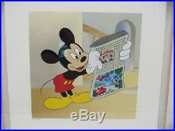 Runaway Brain Walt Disney Art Classics Mixed Media Framed Serigraph Box COA