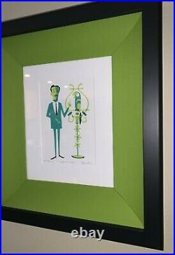 SHAG Josh Agle Disney Tiki Room Walt and José Framed Serigraph Art Print