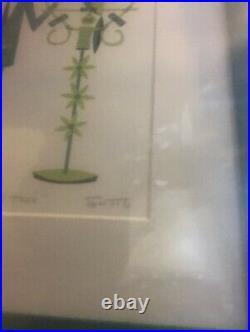 SHAG Josh Agle Walt and José Framed Serigraph Art Print Jose Tiki Room Disney