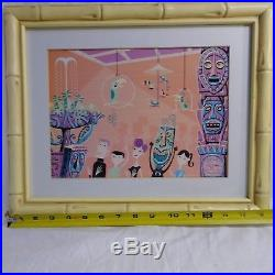 SHAG Print Walt Disney Enchanted Tiki Room 40th Anniversary Bamboo like Frame