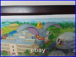 SIGNED Dumbo A Day at the Studio Walt Disney Giclee Canvas Print Hernandez