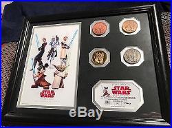 STAR WARS WEEKENDS Walt Disney World -Framed Coin Set Limited 062 / 600