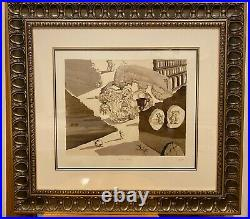 Salvador Dali Walt Disney Destino serigraph 57 270 of 475 framed 33x31