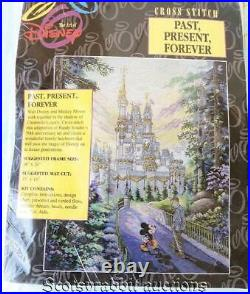 Sealed ART of DISNEY Past Present Forever WALT & MICKEY at Castle Cross Stitch K