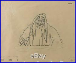 Signed COA Animation Drawing original Walt Disney Studio Snow White sketch 1937