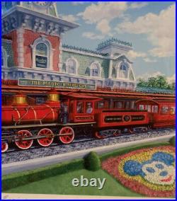 Signed Larry Dotson Walt Parks #1 Engine Walter E. Disney Framed 2012