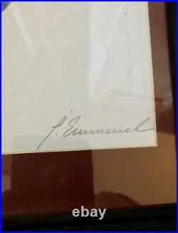 Signed Peter Emmerich LE Cast Exclusive Walt Disney Framed Print 100 Anniversary