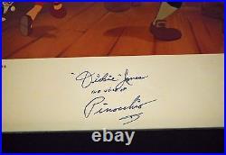 Signed Pinocchio Original voice ca 1940 Walt Disney Dickie Jones 11x14 Frame