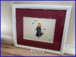 Sleeping Beauty Walt Disney Serigraph Cel Certified Aurora Briar Rose Framed
