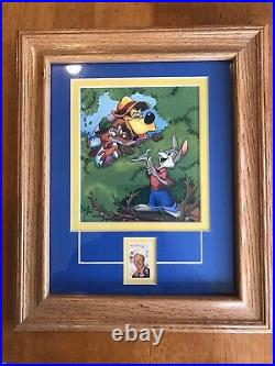 Song of the South -Set Of 3 Matted & Framed Pictures with 1968 Walt Disney Stamp