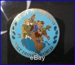Splash Mountain Company D Walt Disney World 25th Anniversary Pin Set Framed