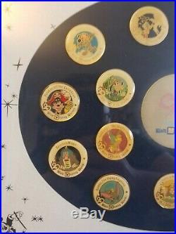Splash Mountain Walt Disney Worlds 20 Magical Years Framed Anniversary Pin Set