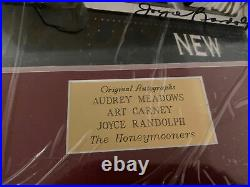 THE HONEYMOONERS 50s SIGNED PHOTO (3) AUTH AUTOGRAPHS FRAMED By Walt Disney Co