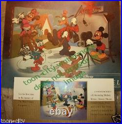 Team Disney cel CAL ARTS Sericel Mickey Goofy Donald Back Stage NEW FRAME 1991
