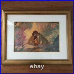 The Lion King FIRST LOVE Scar and Simba Animation Cel Walt Disney Framed
