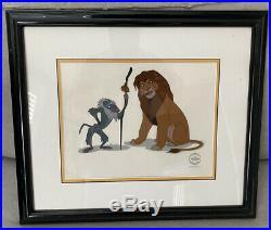 The Lion King Rafiki Simba Framed Sericel Walt Disney Limited Ed. FRAME DAMAGED