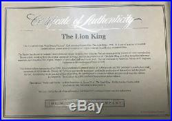 The Lion King Rafiki and Simba Framed Sericel Walt Disney Limited Edition