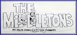 The Middletons Original Comic Strip Art Superbowl Walt Disney World Themed Frame