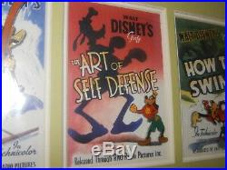 The Walt Disney Gallery Goofy Vintage Posters Framed Pin Set LOCAL PICK UP ONLY