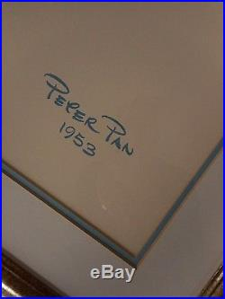 The Walt Disney Gallery Tinker Bell Disney Art print Peter Pan 1953 Preown Frame