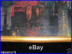 Thomas Kinkade Disneyland 50th canvas 18x27 gold framed signed numbered 1955