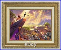 Thomas Kinkade Lion King Canvas Classic (Gold Frame) Disney