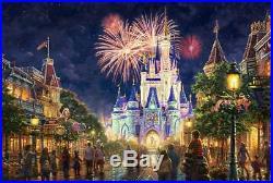 Thomas Kinkade Main Street USA, Walt Disney World 18x27 G/P Limited Canvas