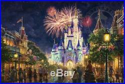 Thomas Kinkade Main Street USA Walt Disney World 18x27 LE Estate Edition (Gold)