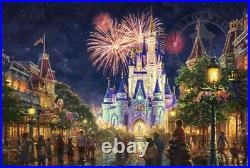Thomas Kinkade Main Street USA Walt Disney World 18x27 S/N