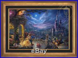 Thomas Kinkade Studios Disney Beauty and the Beast Dancing 24x36 LE E/E Canvas