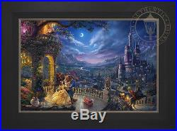 Thomas Kinkade Studios Disney Beauty and the Beast Dancing 24x36 LE G/P Canvas