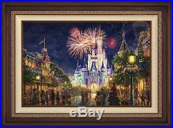Thomas Kinkade Studios Disney Main Street 18x27Limited Edition Canvas A/P Framed