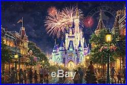 Thomas Kinkade Studios Main Street, U. S. A. Walt Disney WorldClassic-Gold Frame