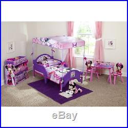 Toddler Bed Frame Girls Boys Kids Bedroom Furniture Canopy Rails Home Children