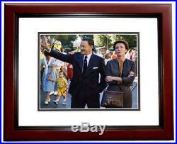 Tom Hanks Signed Saving Mr. Banks Walt Disney 8x10 inch Photo MAHOGANY FRAME