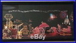 VINTAGE Walt DISNEY World Main Street Electrical Parade Framed Poster NEAR MINT