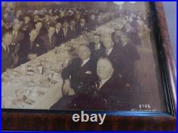 VINTAGE Walt Disney STUDIOS PROP FRAMED PHOTO J EDGAR HOOVER FBI 1949 HG DAVIS