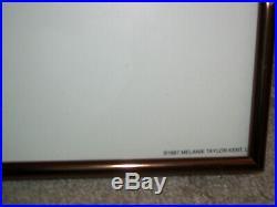VTG Walt Disney World Melanie Taylor Kent 1987 Glass Framed Print 34 x 24