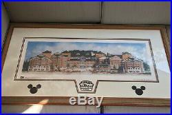 Very Rare Custom Framed and Matted Walt Disney World Wilderness Lodge Concept
