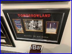 Vintage 1955 Disneyland Brochure Walt Disney Photo Tomorrowland Pamplet Framed