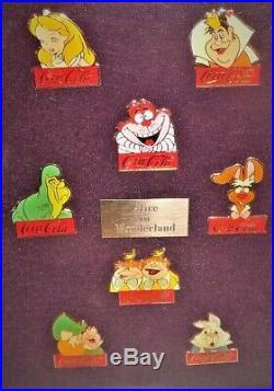 Vintage 1986 Coca-Cola Salutes Walt Disney World 15 Birthday 60 Pin Framed Set