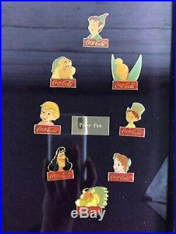 Vintage 1986 Walt Disney World Coca-Cola 15th Anniversary Framed 60 PIN Set