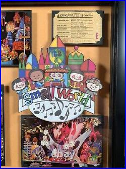 Vintage Disneyland E Ticket Framed Its A Small World Ride Postcard Walt Disney