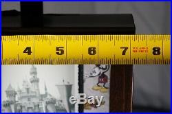 Vintage Disneyland Photo Ticket Coupon Framed Walt Disney Postcard Original Rare