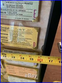 Vintage Disneyland Pirates Of The Caribbean Framed Ticket Pamphlet Walt Disney
