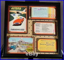 Vintage Disneyland Ticket Autopia Ride Coupon Framed Original Walt Disney Rare