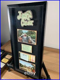 Vintage Disneyland Ticket Book A-E Framed Jungle Cruise Postcard Walt Disney