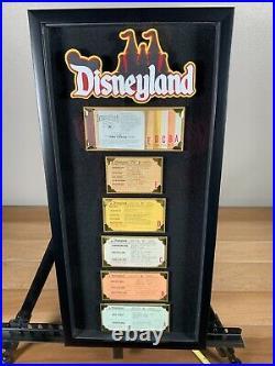 Vintage Disneyland Ticket Book A-E Framed Original Walt Disney Ride Coupon Nice